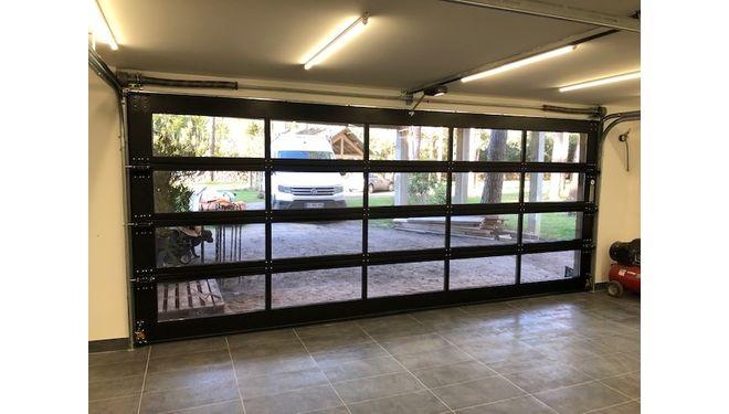 Porte sectionnelle Habitat cristal